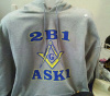 Masonic pullover hooded sweatshirt