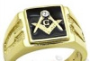 Masonic Stainless steel ring with working tools